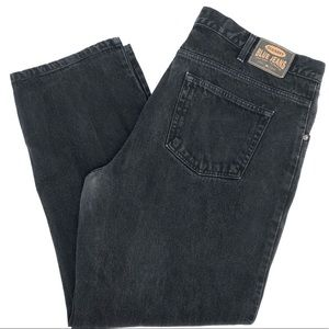 Men's Black Denim Jeans 44 by 32